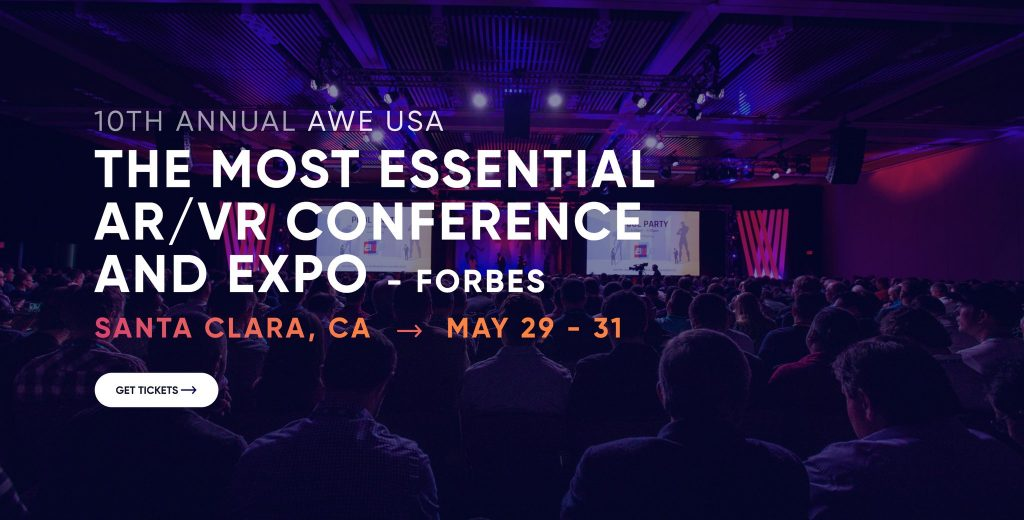 We're exhibiting at the biggest AR event in the world: AWE USA 2019!